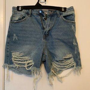 NEVER WORN Fashion Nova Jean Shorts